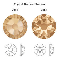 Genuine Swarovski Crystals 2058 & 2088 Foiled Flat Backs No Notfix * Many Colors Ss12 (3.2mm) 40 Crystals/pack Crystal Golden Shadow