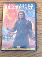 *Tested* Braveheart Movie Widescreen Dvd Mel Gibson Sturdy Case Plays Great