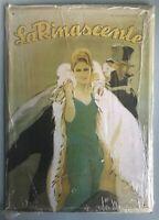 Targa pubblicitaria in latta LA RINASCENTE - Hachette n. 19 - SIGILLATO
