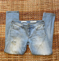Anthropologie Pilcro And The Letterpress Stretch Size 28 Fit Hyphen Distressed