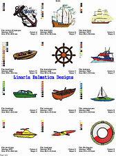 BOATS / WATERCRAFT - 4x4 -LD MACHINE EMBROIDERY DESIGNS