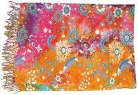 """Celestial Altar Cloth / Sarong: 44"""" x 72"""" (Rayon, Washable) (Sun Stars Moon)"""