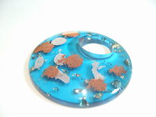 BNAP100 : Turquoise Acrylic Donut Pendant