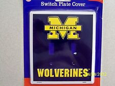 University of Michigan Wolverines NCAA football double light switch plate cover