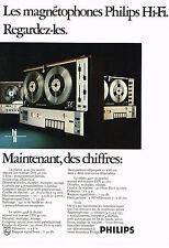 PUBLICITE  1970   PHILIPS  magnétophone