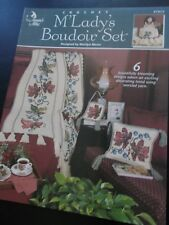 M' Lady's Boudoir Set Crochet Leaflet Annie's Attic 872612