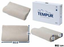 New TEMPUR Japan Original Neck Pillow M 50×31×7(10)cm, washable cover Beige DHL