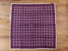 ERMENEGILDO ZEGNA purple lightweight cotton foulard scarf authentic - NWOT
