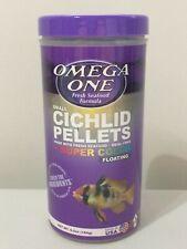 Omega One Super Color Floating Cichlid Pellets, Small Pellets, 6.5 oz