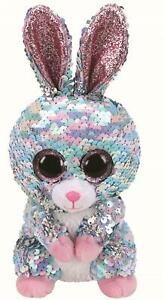 Ty Beanie Flippables 36357 Raindrop the Blue and Pink Bunny Flippable Regular