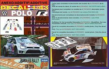 ANEXO DECAL 1/43 VOLKSWAGEN POLO R WRC A.MIKKELSEN WALES RALL GB 2014 DnF (05)