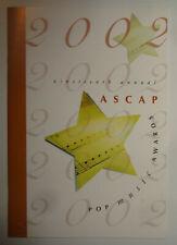 ASCAP Pop Music Awards 2002 Souvenir Program - Beyonce Songwriter Of Year, Dido