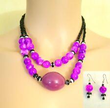 Parure Colliers et Boucles d'oreilles en Perles