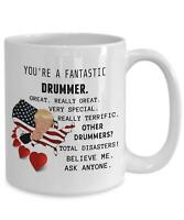 Trump Drummer Mug Funny Coffee Cup For Drummers Gift For Musicians Band Gifts