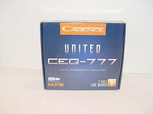 NEW CADENCE CEQ-777 CAR 4-BAND PARAMETRIC EQUALIZER USB AUX 7-VOLT LINE DRIVER