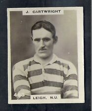 PINNACE FOOTBALL-DOUBLE FRAME BACK-#0463- RUGBY - LEIGH N.U. - J. CARTWRIGHT