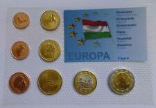 HUNGARY 2008 SET EURO COINS SPECIMEN PATTERN ESSAI PROTOTYPE MAGYAR Magyarország