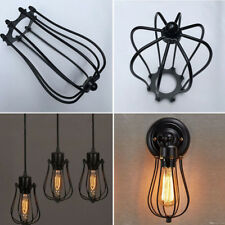 1PC Antique Brass Iron Wire Bulb Cage Lamp Guard Shade Vintage Trouble Light NEW