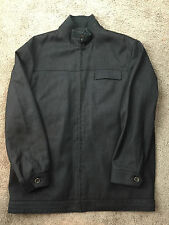 Zegara Collezioni Men M 40 L Jacket Zipper Excellent Dark Gray Brown *