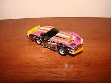 Vintage TYCO Corvette Slot Race Car - Silver/Pink/Orange - Vette