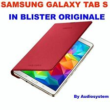 BOOK COVER ORIGINALE PER SAMSUNG GALAXY TAB S 8.4 SM-T705 CUSTODIA DT700BRE ROSS