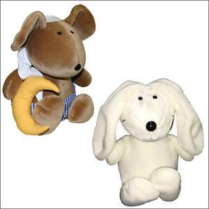 2 große Stofftiere, Steinbeck Schlafmaus und Hase Morris, 42 cm groß, Plüschtier