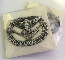 US Army Career Counselor Badge new in pkg full size silver 1.6 gr