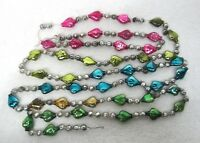 "Vintage Heart Shaped 3/4""  Mercury Glass Bead Christmas Garland 72"" Many Colors"