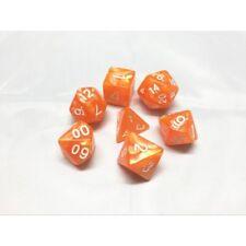HD DICE rpg Orange Pearl 7 dice set D&D new!!!