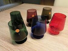 6 Vintage Ingrid Glas Gläser Farbglas Buntglas Cognacgläser Saftgläser ~ 60er