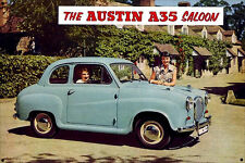 The Austin A35 Saloon Metal Display Sign