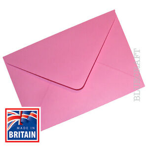 """12 pack x A6 C6 Candy Pink 100gsm Premium Envelopes 114 x 162mm - 6 x 4"""""""