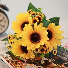 Artificial Fake Sunflowers Flower Floral Wedding Home Garden Decor  Bouquet UK