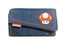 Nintendo Super Mario Bros Denim Embroidered Travel Case DS DSI XL 3DS