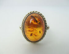 Bernstein Ring 925 Sterling Silber Modernist Vintage baltic amber ring Boho