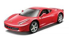 Bburago 1:24 Ferrari 458 Italia Diecast Model Sports Racing Car Vehicle Toy NIB