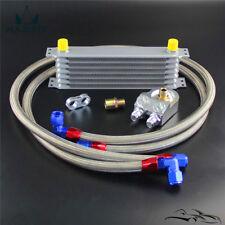 7 Row AN10 Universal Trust Oil Cooler + 3/4*16 & M20*1.5 Filter Adapter Hose Kit