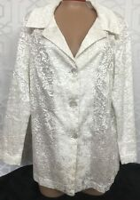 Mayda Cisneros Jacket White Textured Size Xl