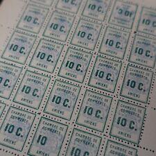 FEUILLE SHEET SELLO DE HUELGA AMIENS N°1 x25 NEUF MNH FOXING CARA