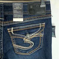 Silver Jeans Suki Surplus Womens 28x32 Curvy Fit Flap Pocket Stretch Bootcut