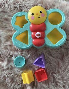 Fisher-Price Mattel CDC22 - Sortierspaß-Schmetterling Bunt Baby Steckspiel