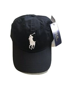 NWT POLO Ralph Lauren Men's Big Pony Baseball Cap Hat Black