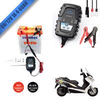 FOXSUR Chargeur de Batterie/Mainteneur 6V 12V Intelligent Voiture Moto 1A EU New