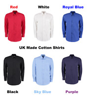 Men's Smart Shirt Cotton UK Made Long Sleeve Casual Tailored Slim Fit Shirts