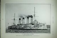 1903 PRINT ARMOURED CRUISER BAYAN NAVAL STRENGTH OF RUSSIA