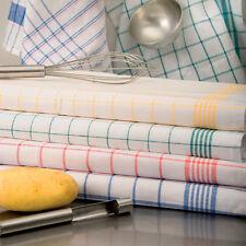 10x Geschirrtuch, Trockentuch, Küchentuch, halbleinen, kariert, 95°C, 0083/10