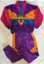 VTG Authentic  Nevica Men's Ski Suit 2 Piece Size M Multicolor Circa 80 Defect