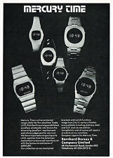 1970's Vintage 1976 Mercury Time LED Watch Co. - Paper Photo Print AD