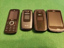 Lot of 4 old cell phones, for parts or repair