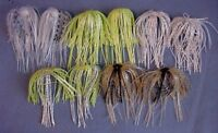 10 Assassinator Buzz & Spinnerbait Silicone Replacement Skirts 5 Colors - 2 Each